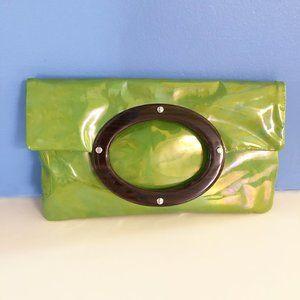 Kate Spade Jocelyn Green Patent Leather Clutch